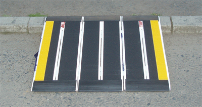 Fibreglass Triple Fold Travel Ramp